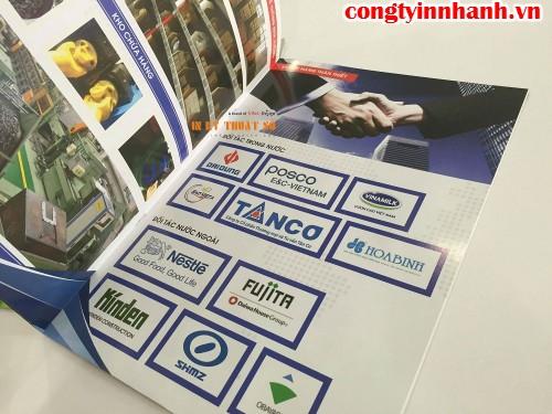 Profile in nhanh lấy liền đẹp cho khách hàng đặt in gấp ở CongTyInNhanh