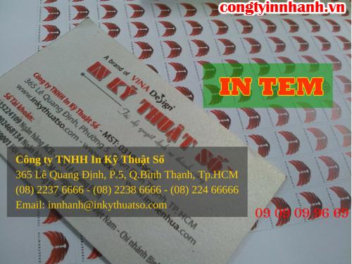 In ấn tem decal giấy giá rẻ tại Công ty TNHH In Kỹ Thuật Số - Digital Printing