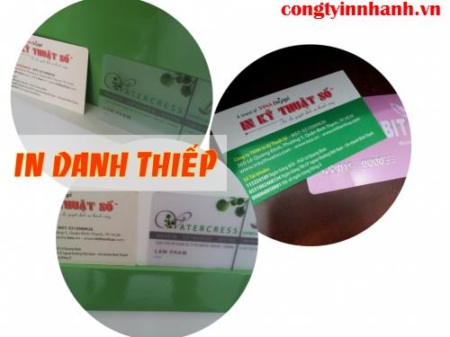 In nhanh danh thiếp trong suốt trên phôi thẻ nhựa chuyên dụng cùng Công ty TNHH In Kỹ Thuật Số - Digital Printing
