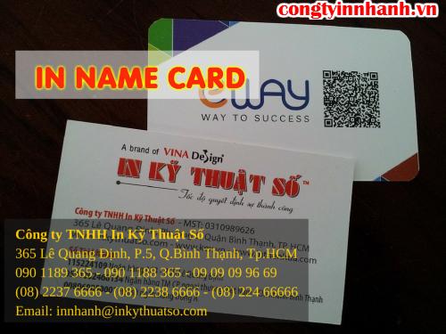 In nhanh name card tại Công ty TNHH In Kỹ Thuật Số - Digital Printing