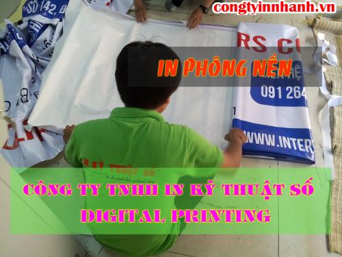In nhanh phông nền giá rẻ tại Công ty TNHH In Kỹ Thuật Số - Digital Printing