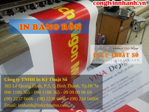 Nhận thiết kế và in ấn băng rôn tại Công ty TNHH In Kỹ Thuật Số - Digital Printing